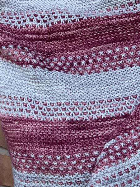 Wine and Silver Shawl