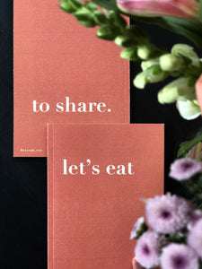 let's eat to share [Set of Two]