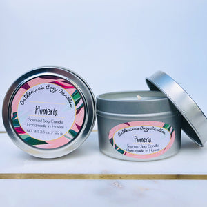 Plumeria Soy Wax Candle