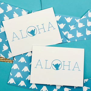 Aloha Shaka greeting card