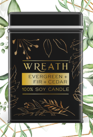 Artful Scents - Wreath Soy Wax Candle