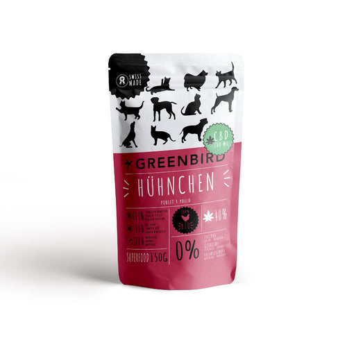 Snack chicken with CBD-CBD for Pets-Greenbird-Swiss CBD Shop-uWeed