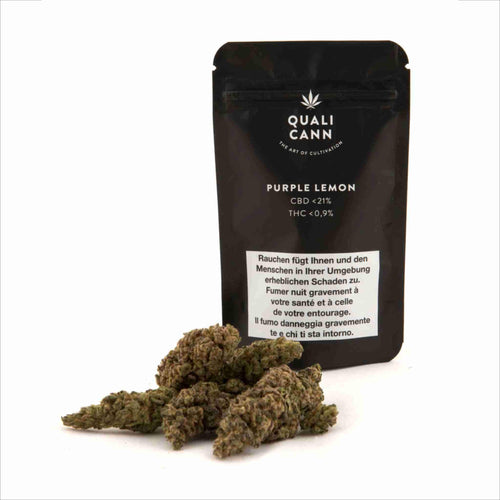 Purple Lemon-CBD Cannabis-Qualicann-Swiss CBD Shop-uWeed