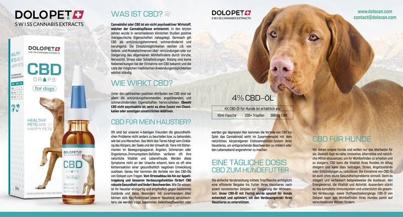 CBD Drops for Dogs-CBD for Pets-Dolopet-Swiss CBD Shop-uWeed
