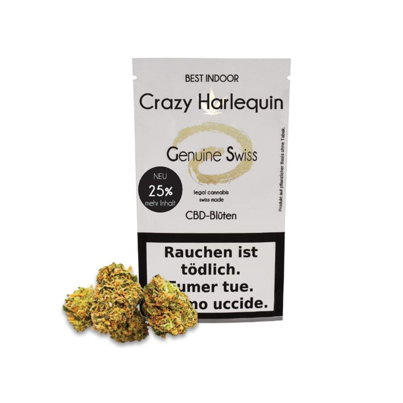 Crazy Harlequin-CBD Cannabis-Genuine Swiss-Swiss CBD Shop-uWeed