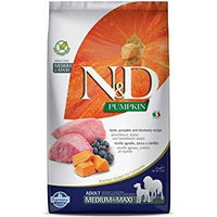 Farmina N&D Grain Free Medium & Maxi Breed Adult Dry Dog Food - Lamb & Blueberry - doggietheapp.com