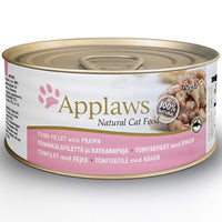 Applaws Natural 75% Tuna Fillet with 23% Prawn Wet Cat Food - 70 g Applaws