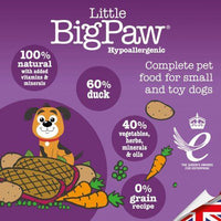 Little Big Paw Tender Duck & Vegetable Dinner - doggietheapp.com