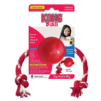 KONG Ball with Rope Dog Toy - Small KONG