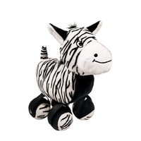 KONG TenniShoes Zebra Plush Dog Toy - Small KONG