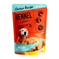 Kennel Kitchen Chicken Chunks in Gravy Dog Food - 100 gm (Pack of 12) Kennel Kitchen