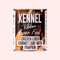 Kennel Kitchen Chicken Liver Gourmet Loaf with Pumpkin Adult Wet Dog Food - 12 x 185 gms Kennel Kitchen