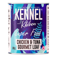 Kennel Kitchen Chicken and Tuna Gourmet Loaf Adult Wet Dog Food - 12 x 185 gms Kennel Kitchen