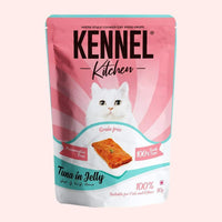 Kennel Kitchen Tuna in Jelly Grain Free Cat Wet Food - 80 gm (Pack of 15) Kennel Kitchen