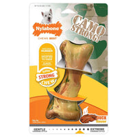 Nylabone Strong Chew Duck Camo Bone- Medium - doggietheapp.com