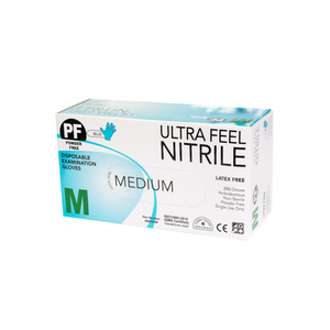 Ultra Feel Medical Nitrile Examination Gloves -  200 Pieces