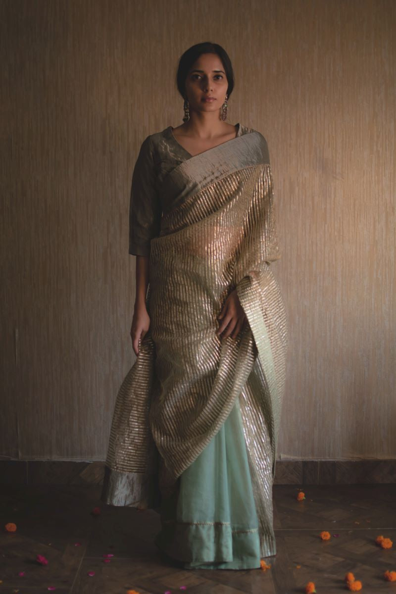 CC sari in green