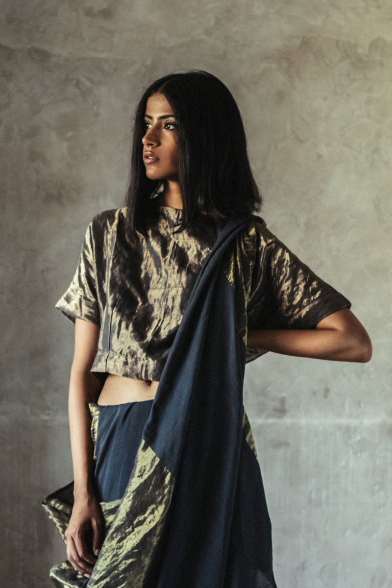 Bandi blouse in antique gold