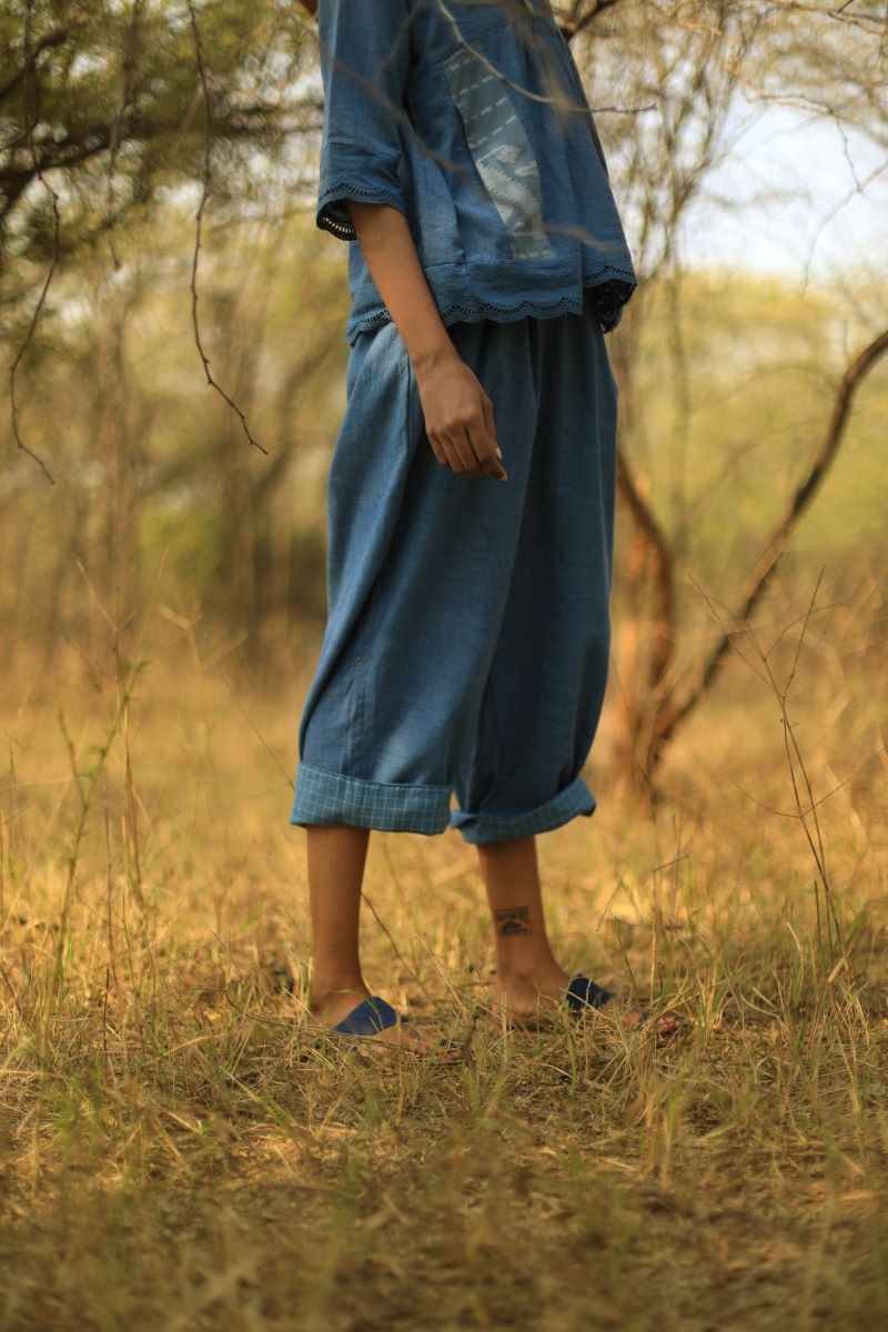 Charlie Pants In Indigo khadi