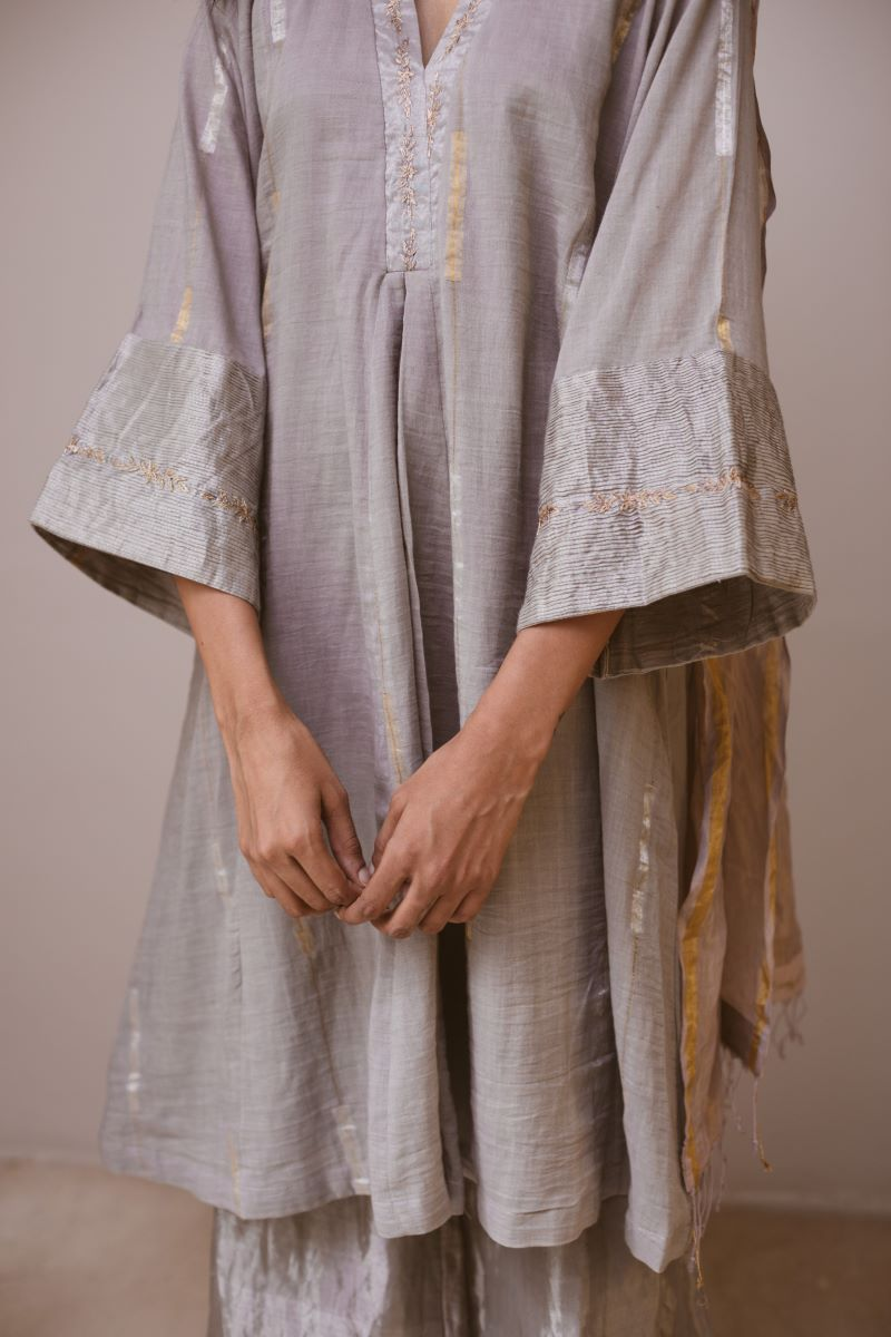 Sashiko Dress with palazzo (Set of 2)