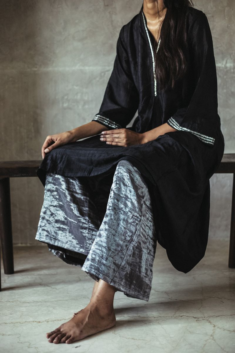 Sashiko Dress with palazzo