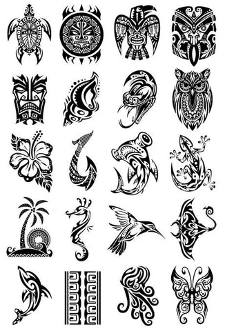 island ink temporary tattoos summertime