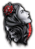2 Head Temporary Tattoo - Negro y Gris Black and Grey Tattoos