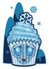 Abominable Snowman Cupcake Temporary Tattoo - Creepy Cakes Tattoos