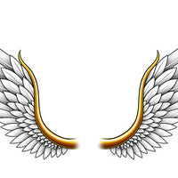 Angel Wings Lower Back Temporary Tattoo - Upper & Lower Back Tattoos