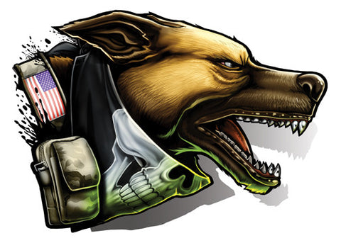 Attack Dog-Black Ops 2 Temporary Tattoo