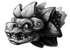 Aztec Dragon Temporary Tattoo - Negro y Gris Black and Grey Tattoos