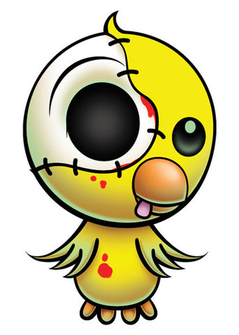Zombie Bird Temporary Tattoo - Pettoo Zombies