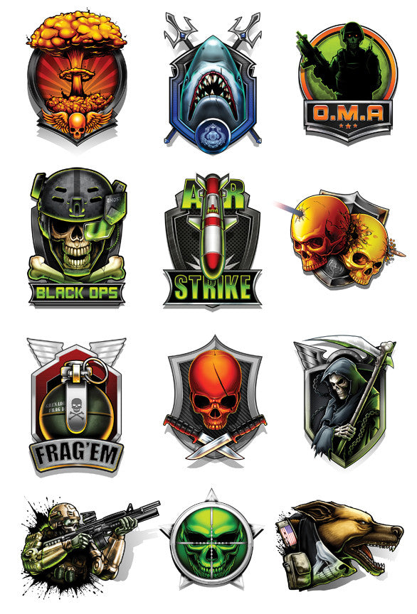 Black Ops 2-Temporary Tattoo Set