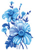 Blue Flowers Temporary Tattoo - Vintage Floral Tattoos