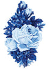 Blue Roses Temporary Tattoo - Vintage Floral Tattoos