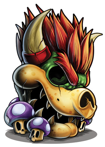 Bowser temporary tattoo