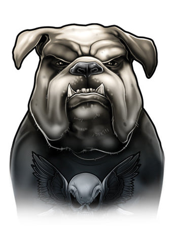 Chest Piece English Bulldog Temporary Tattoos - Inked Dogs Tattoos