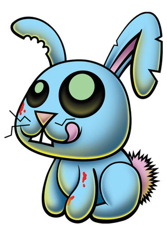 Zombie Bunny Temporary Tattoo - Pettoo Zombies