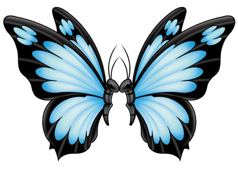 Kissing Butterflies Lower Back Temporary Tattoo - Upper & Lower Back Tattoos