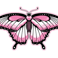 Pink and Black Temporary Tattoo Set