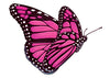 Pink and Black Flying Butterfly Temporary Tattoo