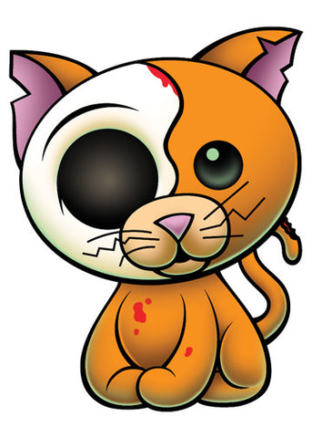 Zombie Kitty Temporary Tattoo - Pettoo Zombies