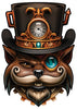 cat top hat steampunk