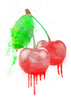 Cherries Temporary Tattoo - Watercolor Tattoos