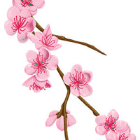 Cherry Blossom Branch Temporary Tattoo - Vintage Floral Tattoos