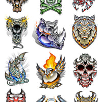 Chrome Temporary Tattoo Set