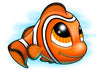 Clown Fish Temporary Tattoo - Under The Sea Tattoos