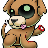 Zombie Puppy Temporary Tattoo - Pettoo Zombies