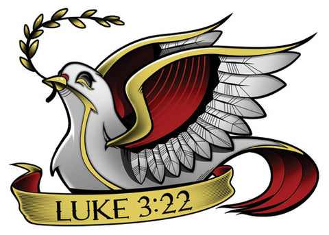Luke 3:22 Temporary Tattoo - Biblical Tattoos - Jesus Tattoos