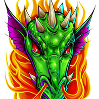 Dragon Temporary Tattoo - Boy Laser Foil Tattoos